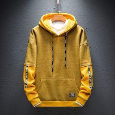 Hip Hop Hoodies – Model Yellow – Walmar - Men's style, accessories, mens fashion trends 2020 Yellow Hoodie, Red Hoodie, Fleece Hoodie, Hoody, Sweat Streetwear, Vetement Fashion, Winter Hoodies, Cool Hoodies, Hoodies For Sale