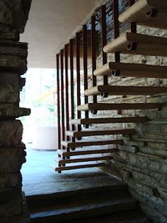 Charming A Modern Marvel At The Time, A Cantilever Staircase In Fallingwater By Frank  Lloyd Wright
