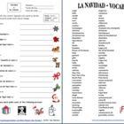 Christmas Colors Worksheet & Vocabulary List