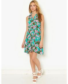 LOVE STRUCK Floral Green Smock Dress | BANK Fashion