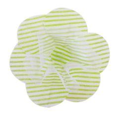 Forminha de Tecido para Doces F7 Tafeta Listrada c/ 100 unidades Verde Claro: Forminhas de Tecido para Doces