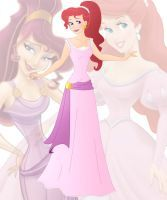 disney fusion: Ariel and Meg by Willemijn1991
