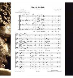 Jacques OFFENBACH : Marche et couplet des Rois ( la belle Hélène ) chœur à  5 voix mixtes. Partition publiée aux Editions Musiques en Flandres - référence MeF 909