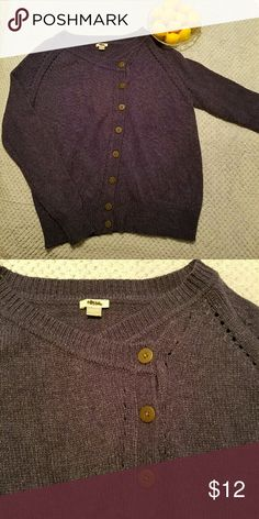 Fossil Sweater SZ XS Denim blue Fossil Sweater with asymmetrical buttons. Cardigan. EUC.   Smoke free, dog friendly home. Will bundle. Fossil Sweaters Cardigans