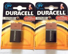 9v BATTERY Duracell, Panasonic, Kodak, JCB by muppetwatches