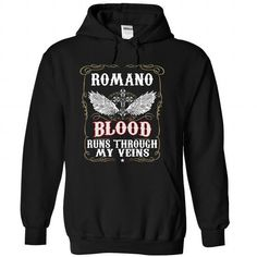 (Blood001) ROMANO - #mothers day gift #small gift. GET IT => https://www.sunfrog.com/Names/Blood001-ROMANO-ymxxyryxqs-Black-49917957-Hoodie.html?68278