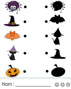 cheznounoucricri - Page 123 Maths Halloween, Halloween Crafts For Toddlers, Halloween Worksheets, Theme Halloween, Halloween Prints, Fall Halloween, Halloween Decorations, Halloween Costumes, Bricolage Halloween