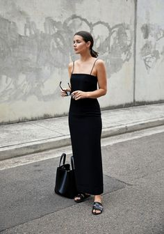 Wearing: Dion Lee black column dress, Elizabeth and James sunglasses, Ancient Greek Sandals, X Nihilo bag Just over a month ago my boyfriend and I got engaged. It has been the most wonderful time, ful