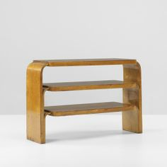 Alvar Aalto; #111 Birch and Laminated Birch Shelves for Artek, 1933.