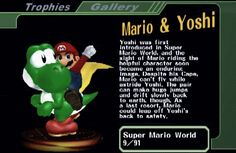 The Mario & Yoshi trophy from Super Smash Bros. Melee. It was only legitimately available in Japan, and must be unlocked by hacking in any other version of the game. #gif