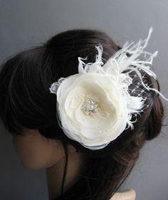 Wedding Hair accessories Bridal hair piece Wedding by LeFlowers