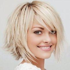 Round layered hair