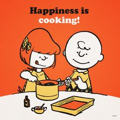 Happiness is cooking together! :) we eat so good- And loving his early Christmas present!!