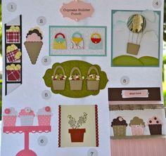 Cupcake Builder 12 x 12 Technique Page : Susan's Blog