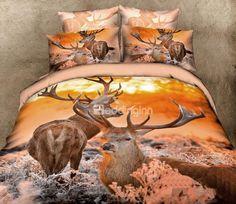 Wholesale of elk print beige queen size bed linens /bed set /bed linens /bedclothes /comforter sets Cheap Bedding Sets, Bedding Sets Online, Comforter Sets, Animal Print Bedding, Animal Prints, Orange Bedding, Bed Linen Sets, Bed Sets, Bedclothes