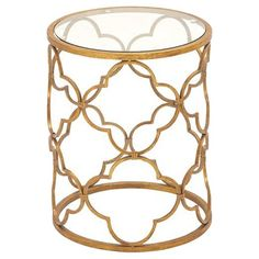 Superb Metal Glass Accent Table : Target