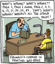 Fibonacci comics humor The Argyle Sweater by Scott Hilburn