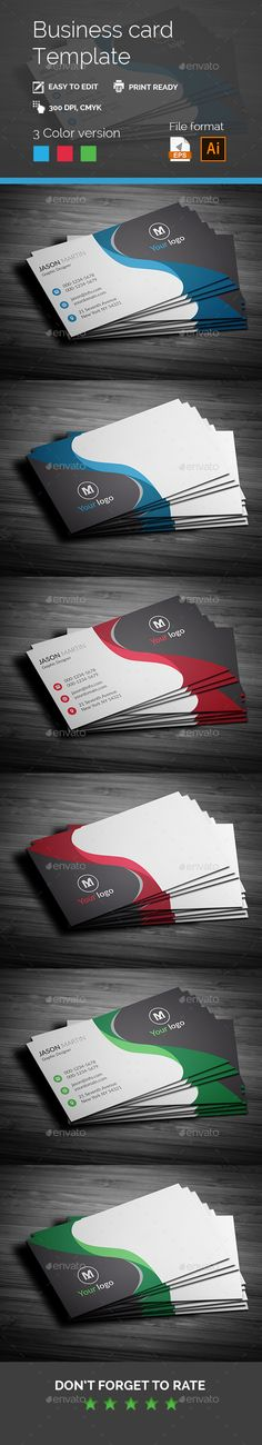 Corporate Business card Ai & EPS - #Business #Cards Print #Templates Download here:  https://graphicriver.net/item/corporate-business-card-ai-eps/19627913?ref=alena994