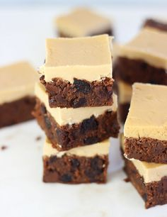 The Gold Lining Girl   Cherry Bourbon Brownies with Brown Sugar Frosting   http://thegoldlininggirl.com