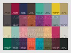 AW2018/2019 Trend Forecasting for Women, Men,Intimate, Sport - Color Reference www.Judithng.com