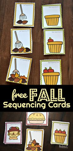fall activities for kids FREE Fall Sequencing Cars - this is such a fun Fall Activity for preschoolers and kindergartners to work on an early math skill while having fun! Fall Preschool Activities, Apple Activities, Sequencing Activities, Preschool Math, Preschool Centers, Teaching Activities, Sequencing Cards, Early Math, Techno