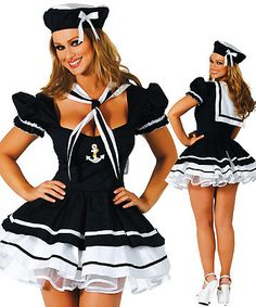 122778fd7ac Sexy Navy Costume 1202 Womens sexy sailor halloween navy costume for women  clothing navy uniforms