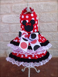 Custom Made Dog Pet Clothing Dress -  Minnie Mouse on Etsy, $44.00