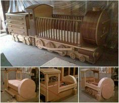 DIY Furniture Plans & Tutorials : What little one wouldnt love their own train bed? DIY practical and decorativ Time Out Stool, Train Bed, Train Room, Diy Bebe, Woodworking Furniture Plans, Diy Woodworking, Woodworking Skills, Woodworking Workshop, Baby Furniture