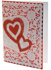 Make Valentine's Cards with Hearts Doilies | Valentine's Cards