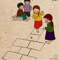 जो खेल थे हमने खेले। The games we played 😉 Childhood Memories Quotes, Childhood Games, Indian Illustration, Pop Art Wallpaper, Art Village, Indian Folk Art, Indian Art Paintings, Cute Cartoon Wallpapers, Drawing For Kids