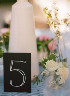 Table numbers...I still need to figure these out