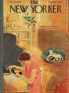 The New Yorker Cover - November 10, 1951 by Garrett Price