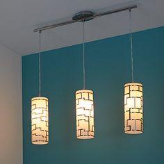 Suspension 3 lumières VERRE H110cm