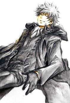 初期設定ではなく、あくまで坂田銀時が真選組隊服(ロングコート)着てみたイメージで。 いつもの通り、葉書サイズにシャーペンで描いて顔彩塗りです。   夏コミ、お誕生日席を頂けました。8/16 東