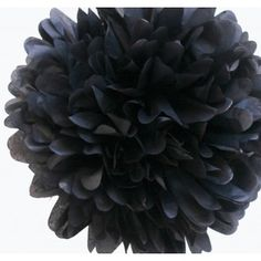 Black Tissue Paper Pom Poms - These new DIY tissue paper poms poms are the perfect stylish, yet simple, addition to your event decor. Ultra lightweight, these black tissue pom poms add elegance and sophistication to any special occasion including bridal showers, weddings, birthday partied and more. #bacheloretteparty #wedding #daisydays