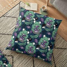 Frogs, Floor Pillows, Color Patterns, Art Prints, Printed, Awesome, Stuff To Buy, Design, Products