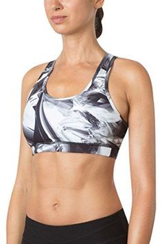 MPG Womens Julianne Hough Collection Elliptical 20 Printed Sports Bra XL Spark White * You can find more details by visiting the image link. (This is an affiliate link and I receive a commission for the sales)
