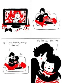D'aww. This is the sort of relationship I have with my boyfriend Chris. Nerdy and perfectly imperfect.