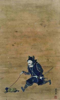 SAMURAI with a cat. 野口哲哉作「着甲武人猫散歩逍遥図」 野口哲哉ノ作品集 「侍達ノ居ル処。」Link…