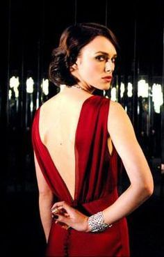 Keira Knightley for Coco Mademoiselle. Red chiffon, light ...