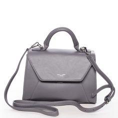 DavidJones Elegantní a lehká tmavě šedá kabelka David Jones do ruky 89340c40fc4