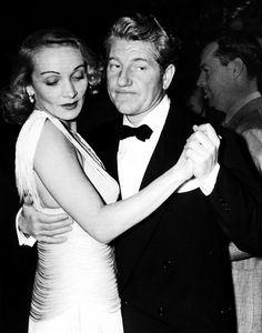 Marlene, dancing with her lover, the French actor Jean Gabin. She carried a torch for him.