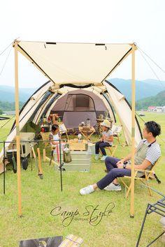 CAMPSTYLEあっきーさん(ドッペルギャンガーアウトドアカマボコテント父子キャンスタイル) Camping Style, Diy Camping, Camping Hacks, Outdoor Camping, Camping Ideas, Joshua Tree Camping, Tent Living, Camping Furniture, Outdoor Fashion
