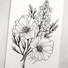 Design 1 for a sister project I'm working on! They wanted similar tattoos with … - Top 99 Pencil Drawings Doodle Drawings, Doodle Art, Pencil Drawings, Flower Outline, Flower Art, Tattoo Sketches, Tattoo Drawings, Tatoo Floral, Flower Sketches