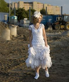 White Fairy Dress Upcycled Wedding Dress Grown Tattered by cutrag, $303.03