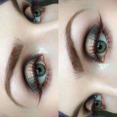 "Molly Bee on Instagram: ""more of yesterday's eyes ✌️ I filmed a mini tutorial for this on my snapchat, 'beautsoup' || @anastasiabeverlyhills Dipbrow in 'Medium Brown' | @anastasiabeverlyhills 'Fudge' Eyeshadow (lid) | @maccosmetics 'Blonde's Gold' Pigment (spotlight) | @illamasqua 'Broken Gold' Eye Gel (inner corner - amazing stuff) | @limecrimemakeup 'Salem' Velvetine (eyeliner) | @eylure 116 lashes """