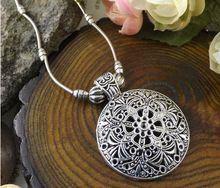 NR176 della boemia d'argento tibetano della pietra del turchese dell'annata della collana del choker dei monili della catena di san valentino per le donne della ragazza(China (Mainland))
