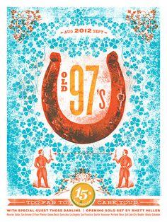 Old 97's Tour poster byLure Design