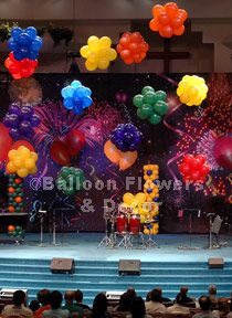 Balloons in your corporate colors made a grand statement! Give us a call! Balloon Topiary, Balloon Flowers, Balloon Centerpieces, Balloon Decorations, Birthday Party Decorations, Balloon Designs, Balloon Ideas, Rainbow Balloons, Bubble Balloons