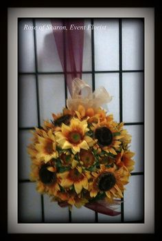 Silk Sunflower Pomander     #RoseOfSharon